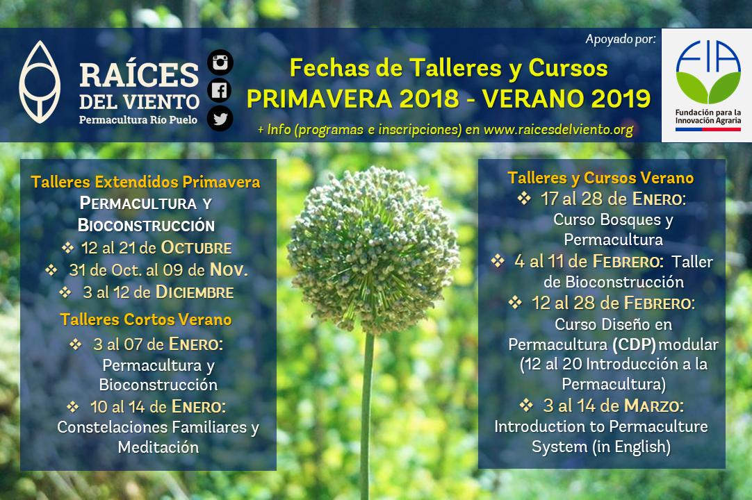 Talleres Primavera 2018 - Verano 2019